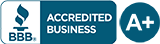 BBB Accredited Business A+ Rating Seal