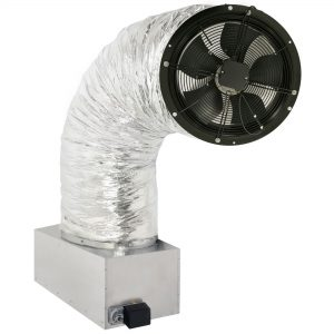 The CentricAir Fan mounted on its damper box.