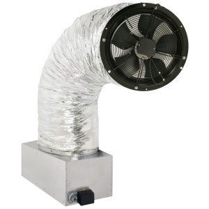 whole house fan on damper box