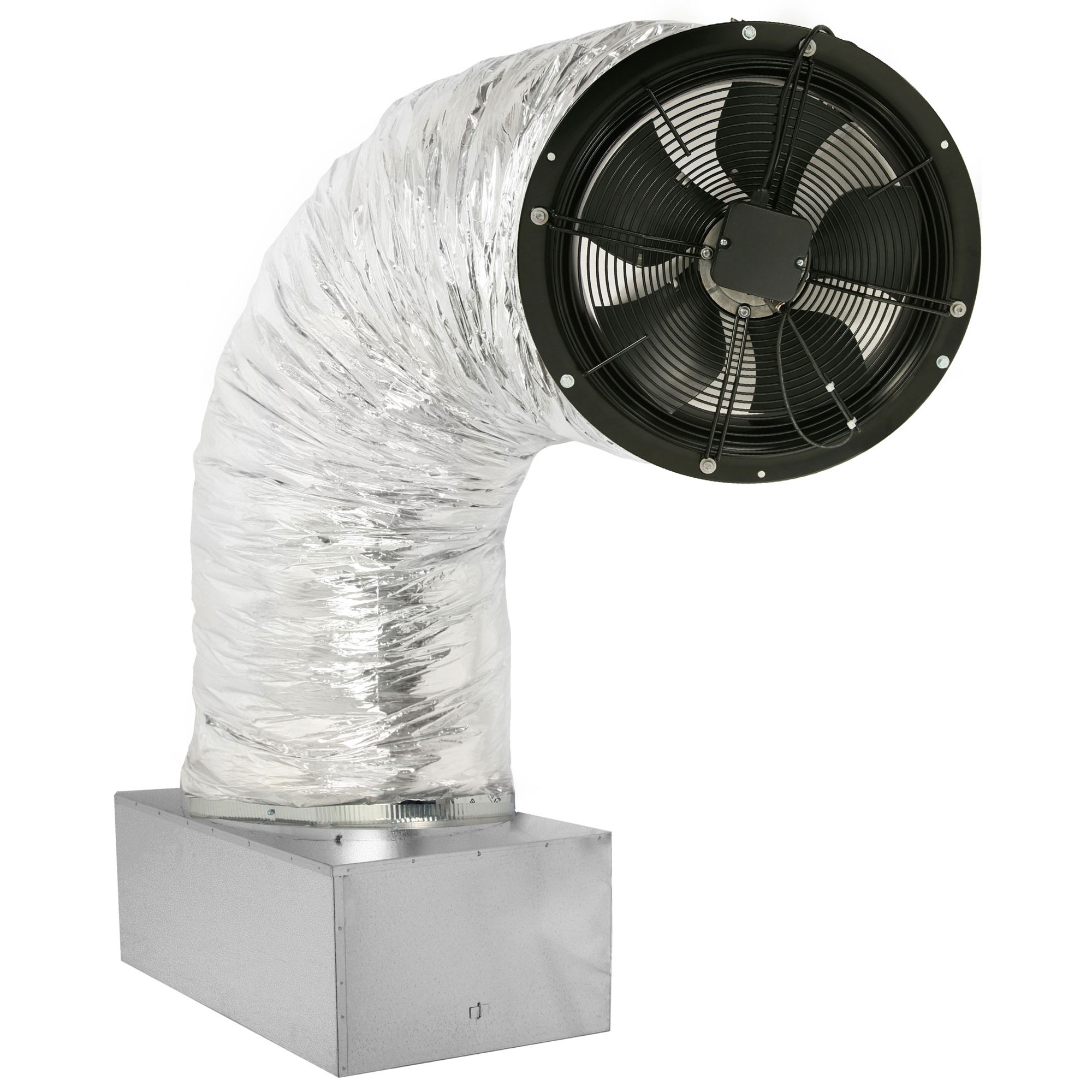 whole house fan on damper box