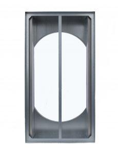 A photo of the R-5 whole house fan gravity damper when open.