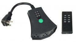 A photo of the Single-Speed Remote Control and receiver.